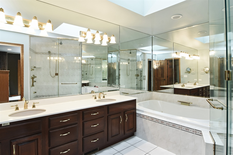 Real Estate Photography - 185 Elderberry, Hawthorn Woods, IL, 60047 - Master Bathroom