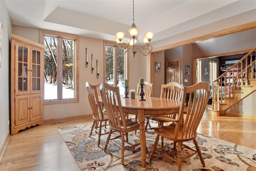 Real Estate Photography - 185 Elderberry, Hawthorn Woods, IL, 60047 - Dining Room