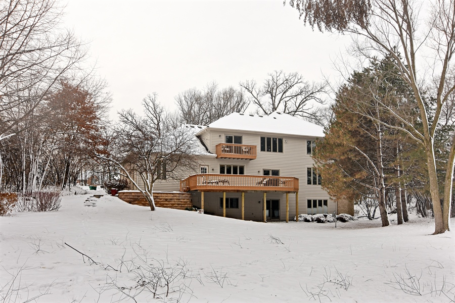 Real Estate Photography - 185 Elderberry, Hawthorn Woods, IL, 60047 - Rear View