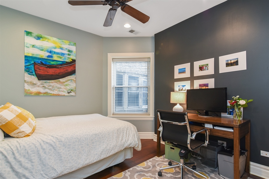 Real Estate Photography - 1625 W Catalpa Ave, 2, Chicago, IL, 60640 - 2nd Bedroom