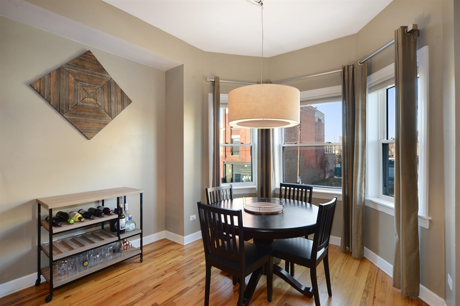Real Estate Photography - 1813 W. Grand, 2, Chicago, IL, 60622 - Dining Room