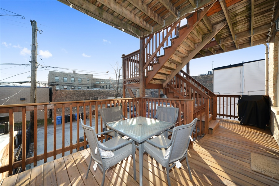 Real Estate Photography - 1813 W. Grand, 2, Chicago, IL, 60622 - Deck