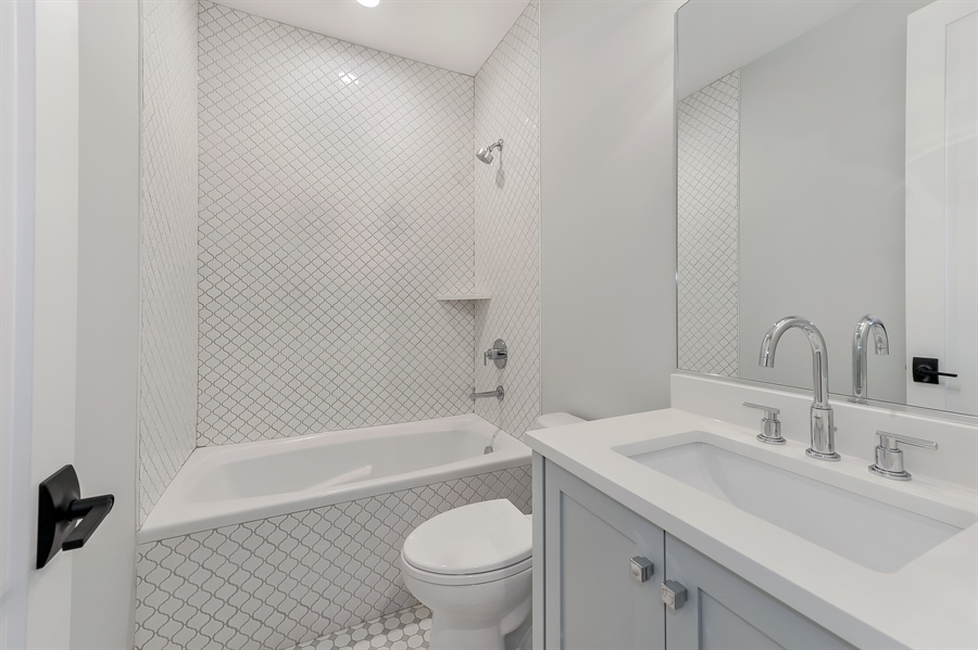 Real Estate Photography - 1530 W Wellington, Chicago, IL, 60657 - 3rd Bathroom