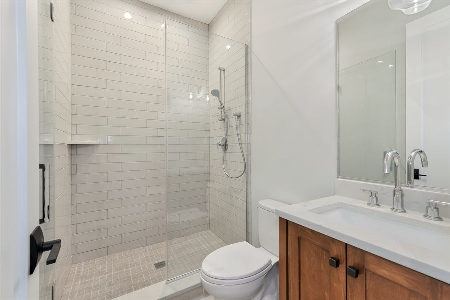 Real Estate Photography - 1530 W Wellington, Chicago, IL, 60657 - Guest Bathroom