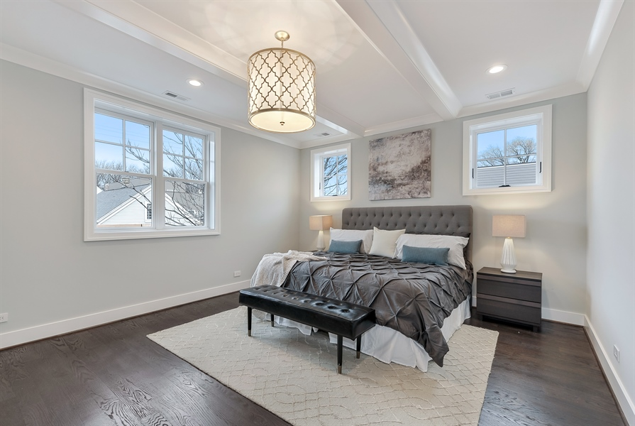 Real Estate Photography - 1530 W Wellington, Chicago, IL, 60657 - Master Bedroom