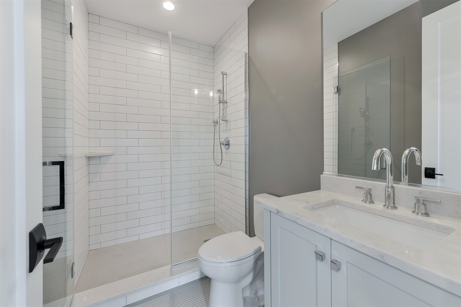 Real Estate Photography - 1530 W Wellington, Chicago, IL, 60657 - 2nd Bathroom