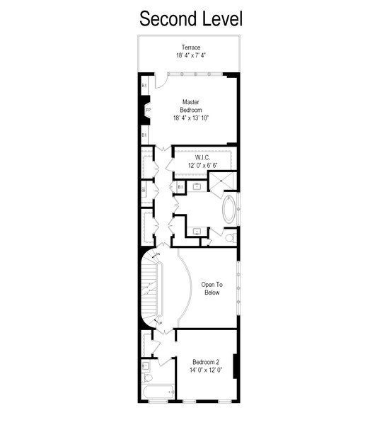 Real Estate Photography - 1705 N Dayton, Chicago, IL, 60614 - Floor Plan