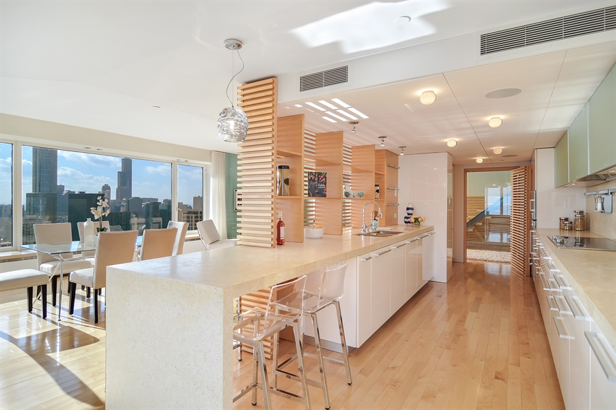 Real Estate Photography - 161 E Chicago, 55B, Chicago, IL, 60611 - Kitchen / Living Room