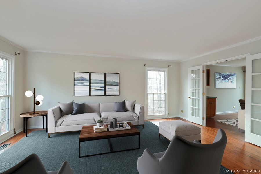 Real Estate Photography - 217 ascot ct, Lake bluff, IL, 60044 - Living Room Virtually Staged
