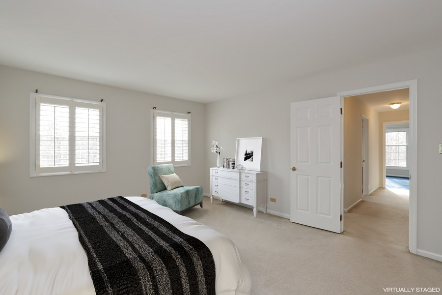 Real Estate Photography - 217 ascot ct, Lake bluff, IL, 60044 - Master Bedroom Virtually Staged