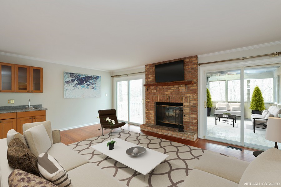 Real Estate Photography - 217 ascot ct, Lake bluff, IL, 60044 - Family Room Virtually Staged