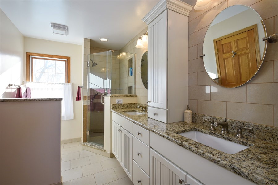 Real Estate Photography - 317 Appley Avenue, Libertyville, IL, 60048 - Upstairs Bathroom