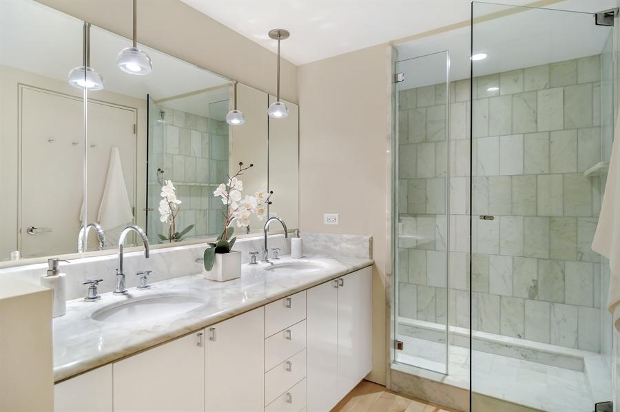 Real Estate Photography - 161 E Chicago, 56B, Chicago, IL, 60611 - Master Bathroom