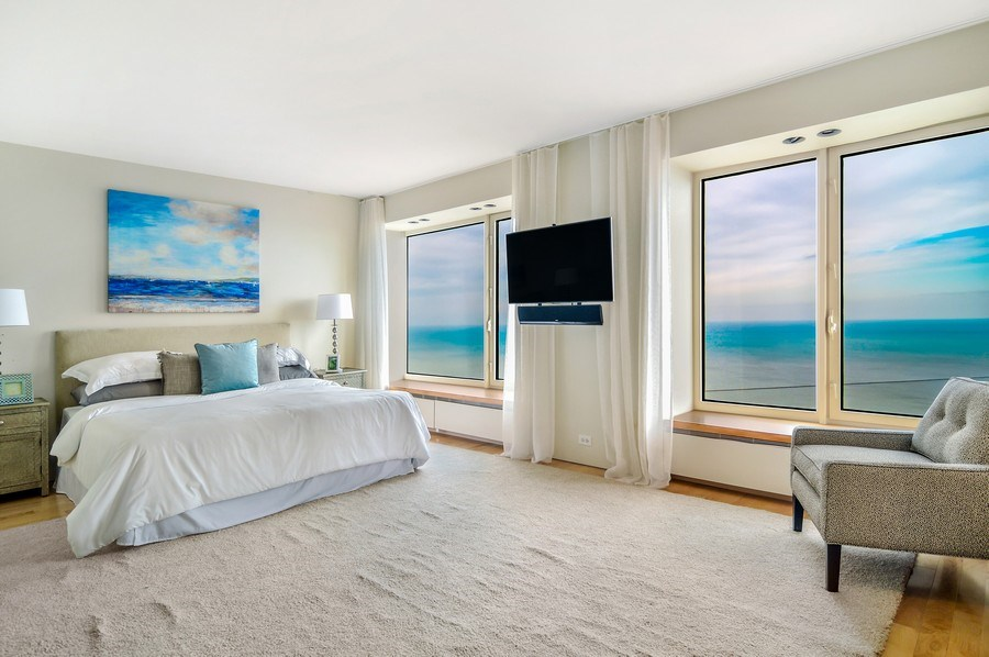 Real Estate Photography - 161 E Chicago, 56B, Chicago, IL, 60611 - Master Bedroom