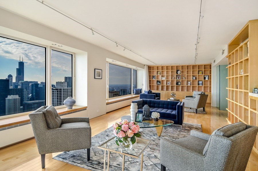 Real Estate Photography - 161 E Chicago, 56B, Chicago, IL, 60611 - Living Room