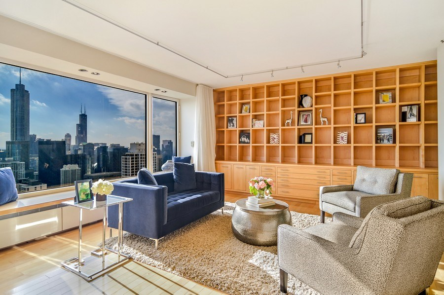 Real Estate Photography - 161 E Chicago, 56B, Chicago, IL, 60611 - Family Room