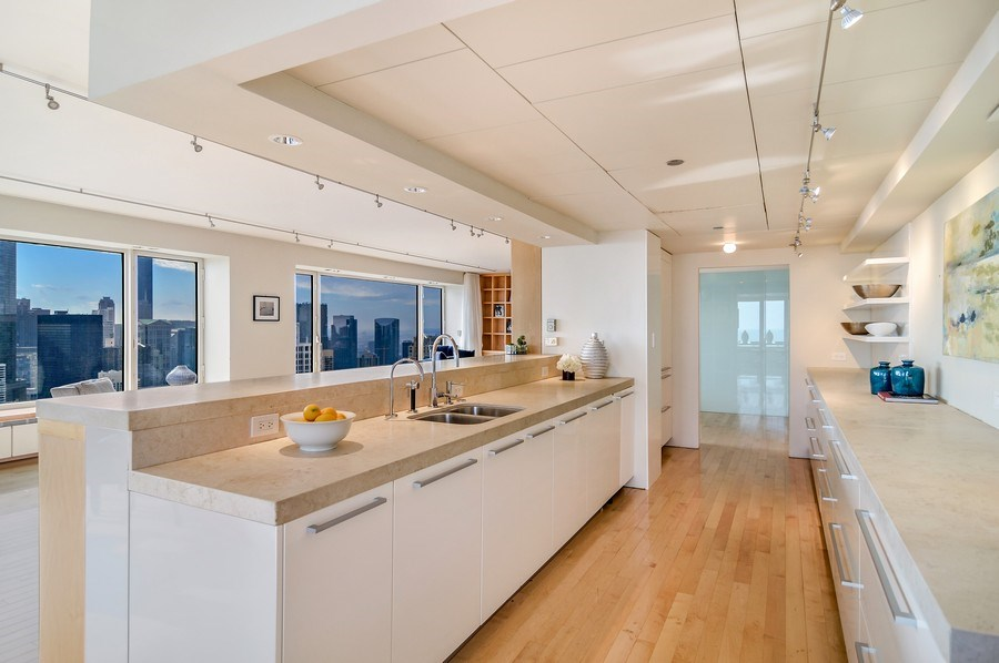 Real Estate Photography - 161 E Chicago, 56B, Chicago, IL, 60611 - Kitchen / Living Room
