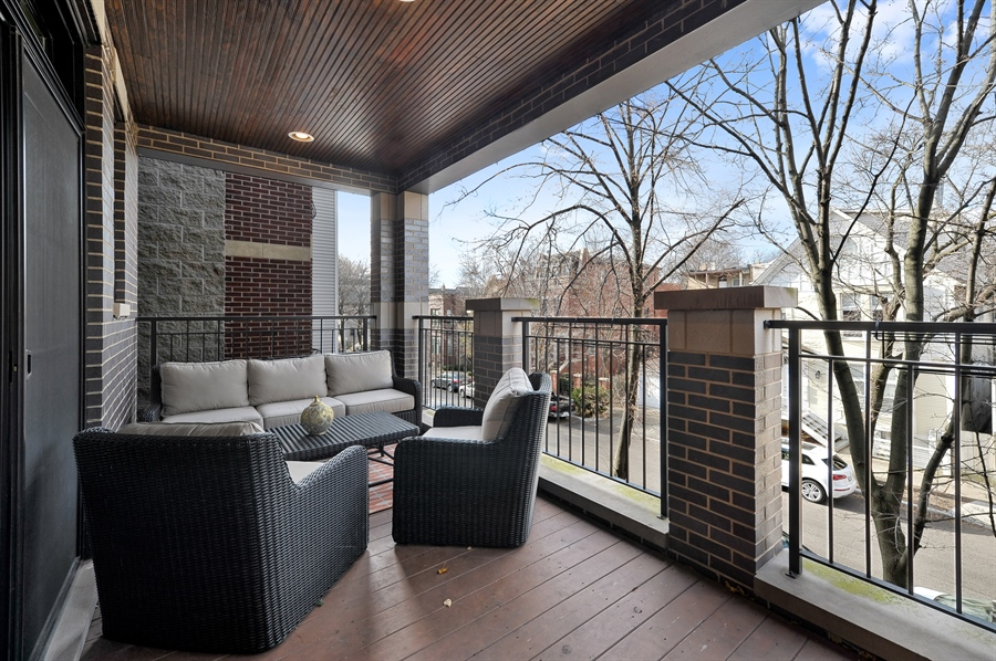 Real Estate Photography - 2769 N Kenmore Ave, Unit 2, Chicago, IL, 60614 - Balcony