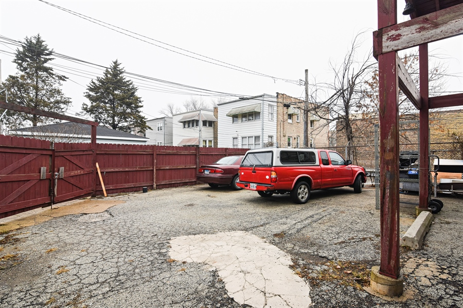 Real Estate Photography - 3144 W Irving Park Rd, Chicago, IL, 60618 - Parking Area