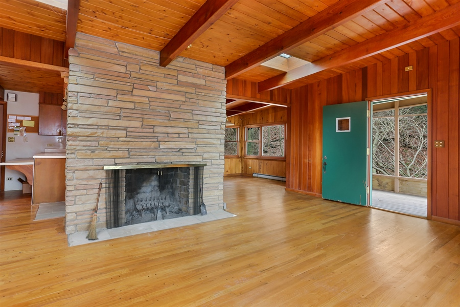 Real Estate Photography - 36262 Blue Star Highway, Covert, MI, 49043 - Living Room w Fireplace