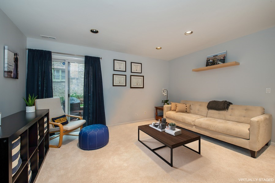 Real Estate Photography - 2129 N Magnolia, Unit A, Chicago, IL, 60614 - Family Room