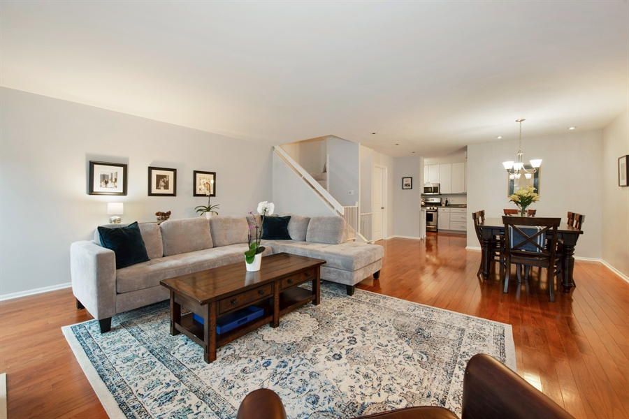 Real Estate Photography - 2129 N Magnolia, Unit A, Chicago, IL, 60614 - Living Room / Dining Room