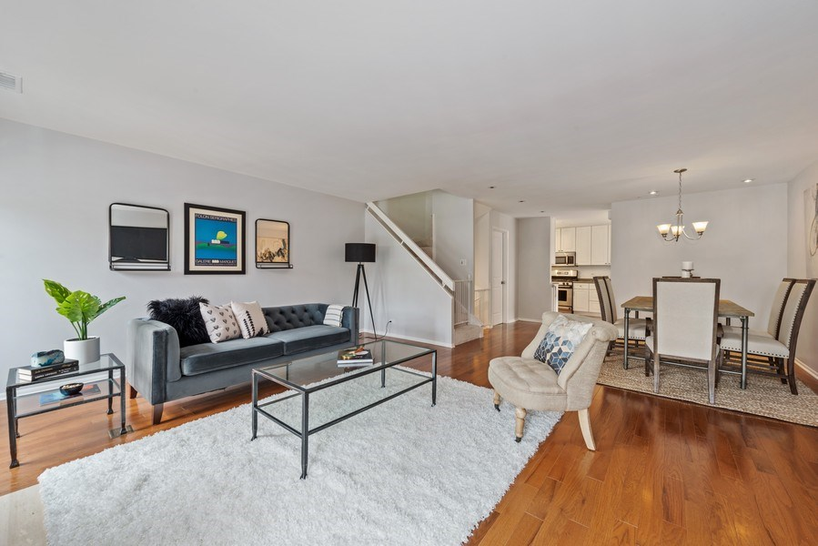 Real Estate Photography - 2129 N Magnolia, Unit A, Chicago, IL, 60614 - Living Room/Dining Room
