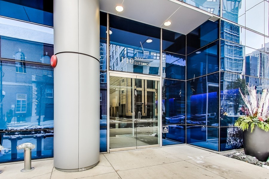 Real Estate Photography - 110 W Superior, 2501, Chicago, IL, 60654 - Building Entry