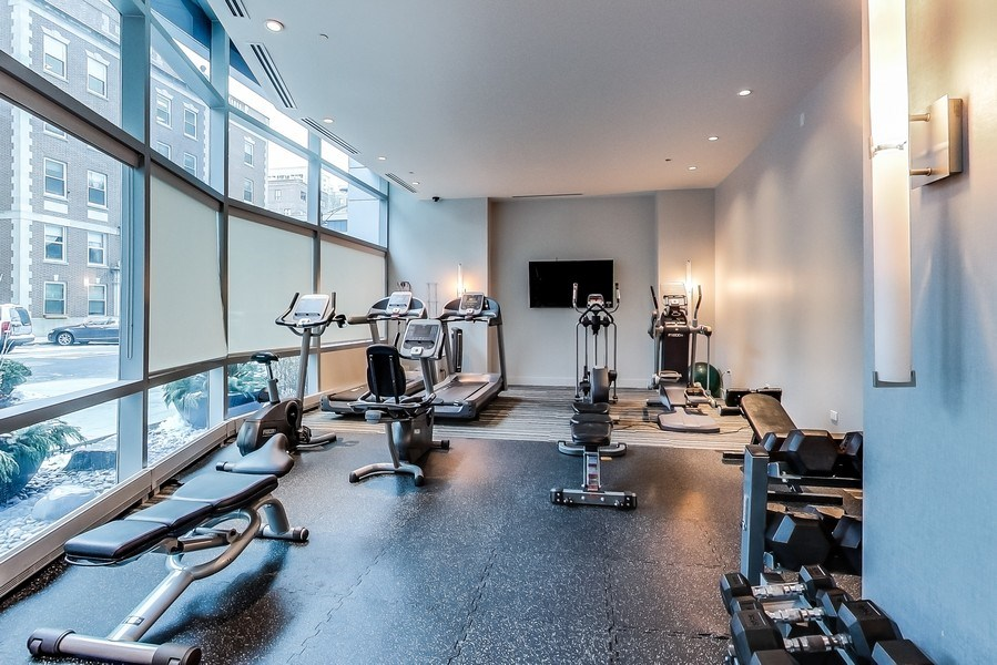 Real Estate Photography - 110 W Superior, 2501, Chicago, IL, 60654 - Exercise Room
