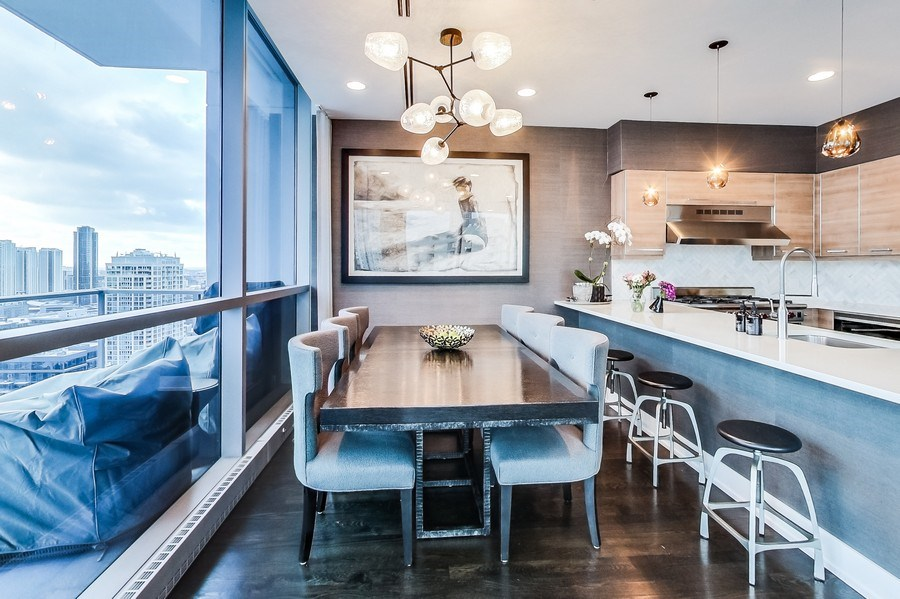 Real Estate Photography - 110 W Superior, 2501, Chicago, IL, 60654 - Dining Room