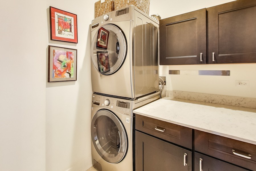 Real Estate Photography - 110 W Superior, 2501, Chicago, IL, 60654 - Laundry Room
