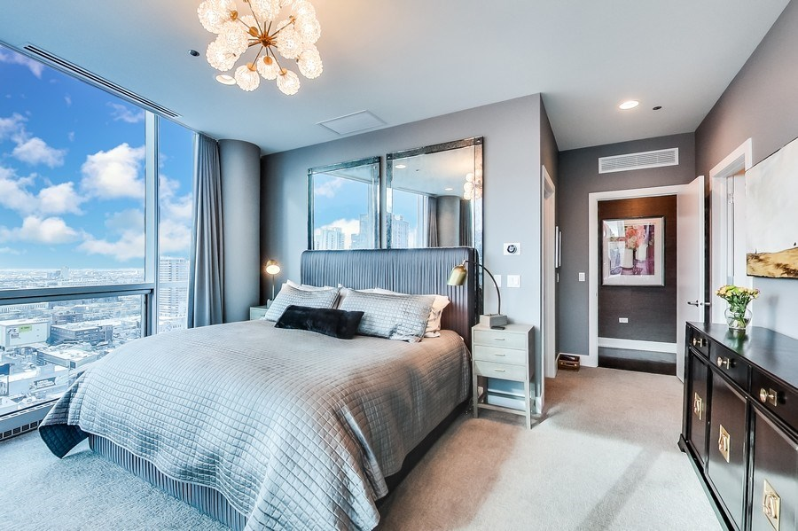 Real Estate Photography - 110 W Superior, 2501, Chicago, IL, 60654 - Master Bedroom