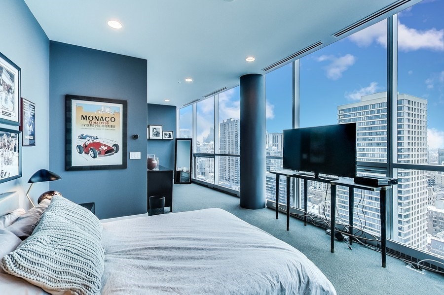 Real Estate Photography - 110 W Superior, 2501, Chicago, IL, 60654 - Bedroom 2