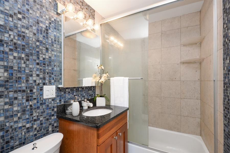 Real Estate Photography - 450 W Briar Pl, Unit 13G, Chicago, IL, 60657 - Master Bathroom