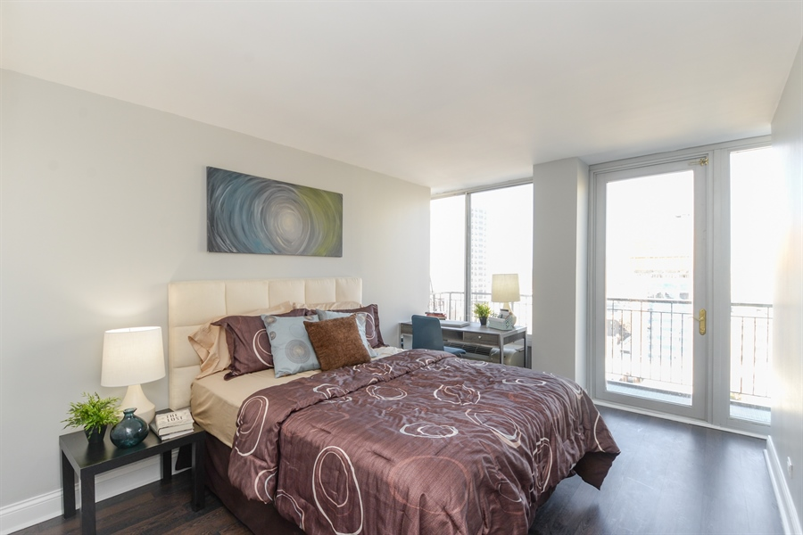 Real Estate Photography - 450 W Briar Pl, Unit 13G, Chicago, IL, 60657 - Bedroom