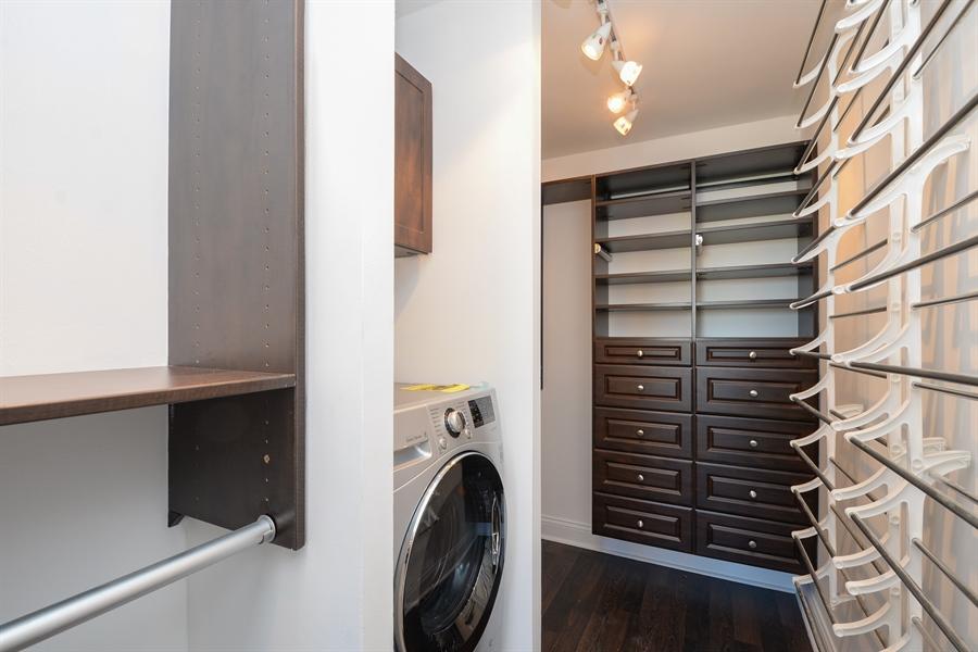 Real Estate Photography - 450 W Briar Pl, Unit 13G, Chicago, IL, 60657 - Master Bedroom Closet