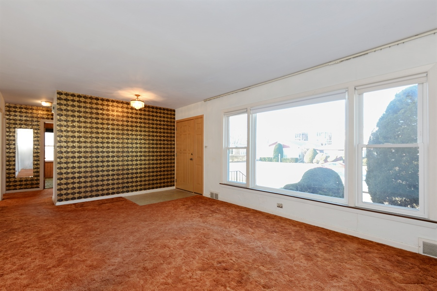 Real Estate Photography - 8427 Central Park Ave, Skokie, IL, 60076 - Living Room