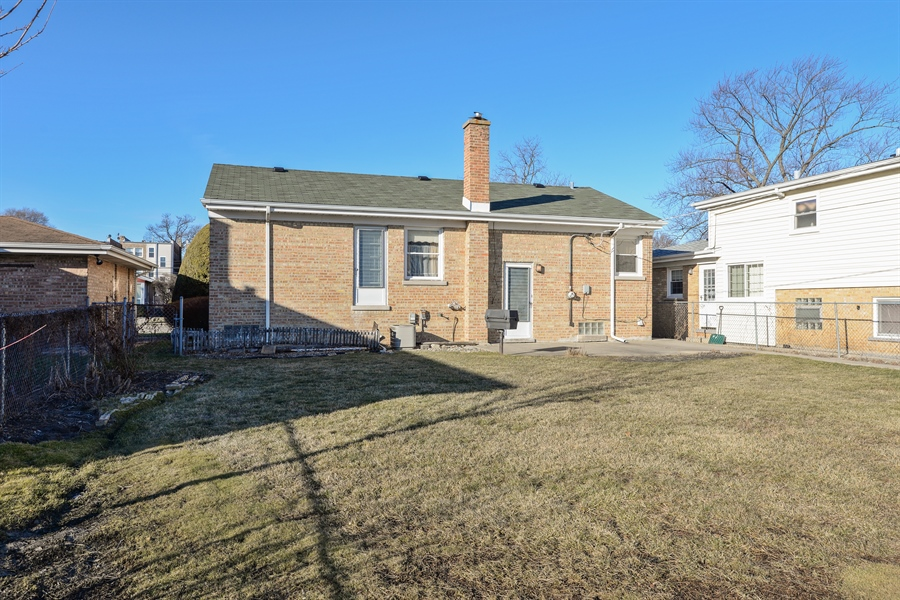 Real Estate Photography - 8427 Central Park Ave, Skokie, IL, 60076 - Rear View