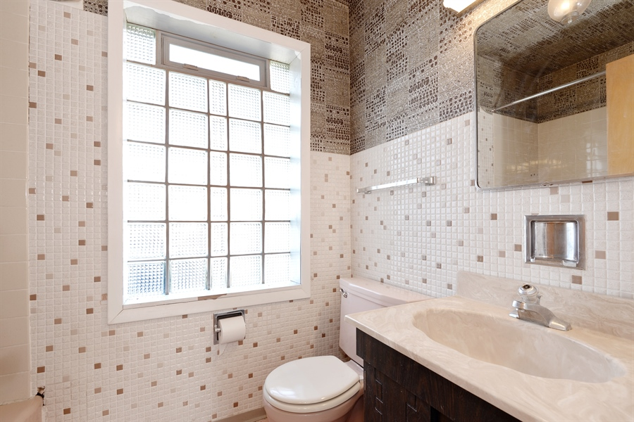 Real Estate Photography - 8427 Central Park Ave, Skokie, IL, 60076 - Bathroom