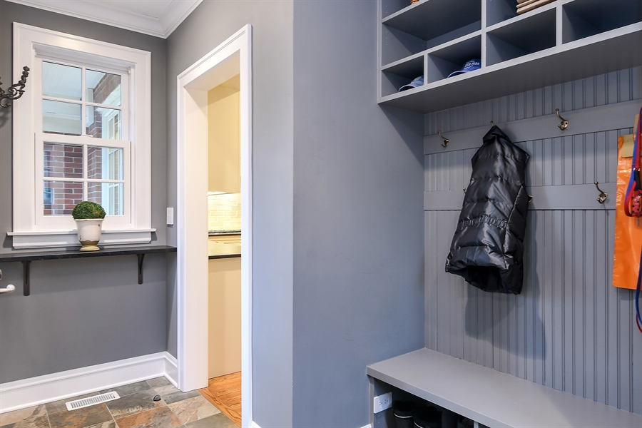 Real Estate Photography - 1935 Thornwood Ave, Wilmette, IL, 60091 - Mudroom