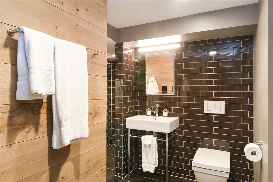 Real Estate Photography - 1935 Thornwood Ave, Wilmette, IL, 60091 - Basement Bathroom