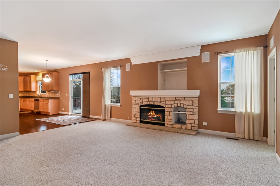 Real Estate Photography - 2360 Stonybrook, Wauconda, IL, 60084 - Family Room / Kitchen