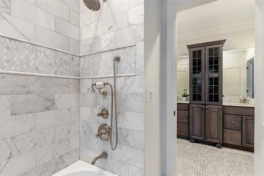 Real Estate Photography - 1301 Chestnut Avenue, Wilmette, IL, 60091 - 3rd Bathroom