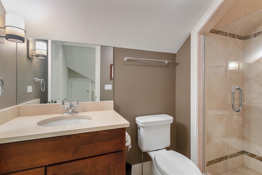 Real Estate Photography - 1301 Chestnut Avenue, Wilmette, IL, 60091 - 3rd floor bathroom