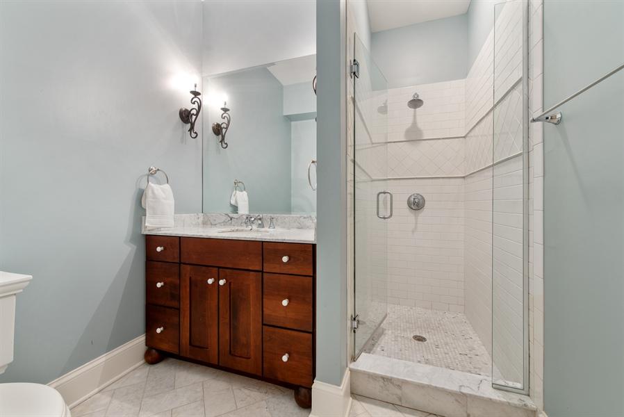 Real Estate Photography - 1301 Chestnut Avenue, Wilmette, IL, 60091 - Lower Level Full Bath