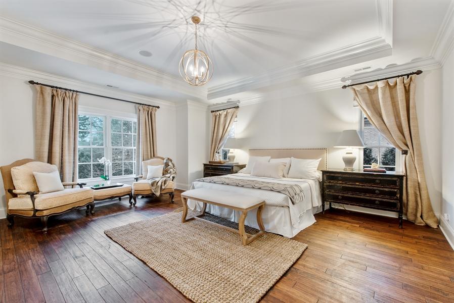 Real Estate Photography - 1301 Chestnut Avenue, Wilmette, IL, 60091 - Master Bedroom