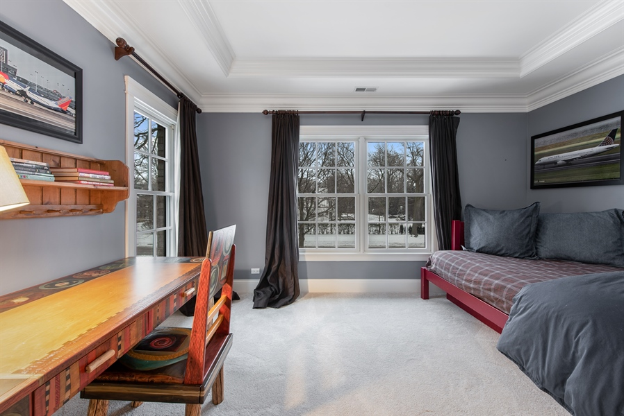 Real Estate Photography - 1301 Chestnut Avenue, Wilmette, IL, 60091 - 2nd Bedroom