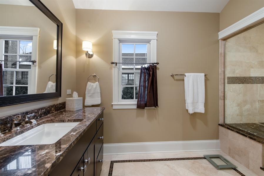 Real Estate Photography - 1301 Chestnut Avenue, Wilmette, IL, 60091 - His bathroom