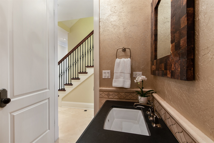 Real Estate Photography - 1301 Chestnut Avenue, Wilmette, IL, 60091 - Powder Room