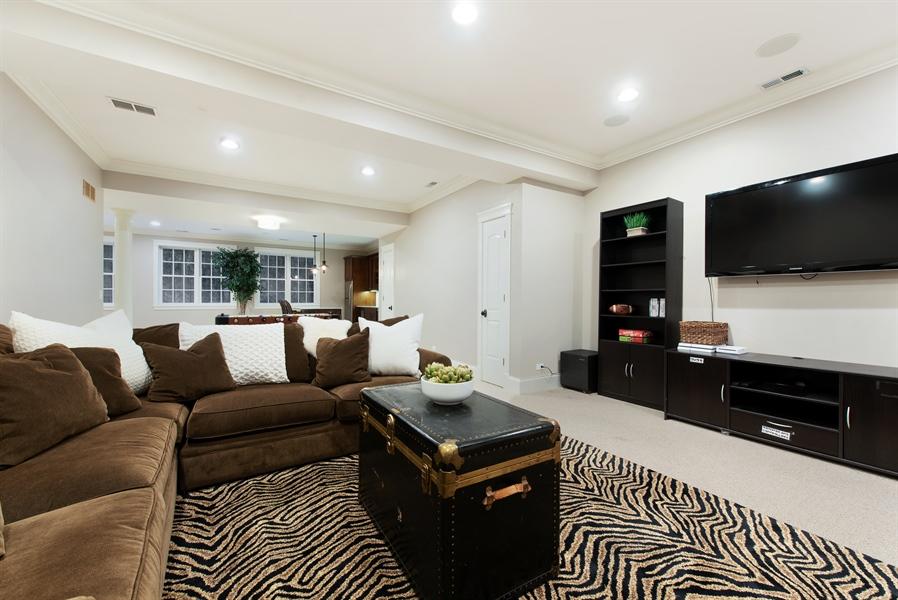Real Estate Photography - 1301 Chestnut Avenue, Wilmette, IL, 60091 - Recreation Room